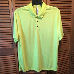 Adidas Climachill Highlight Yellow Polo Shirt